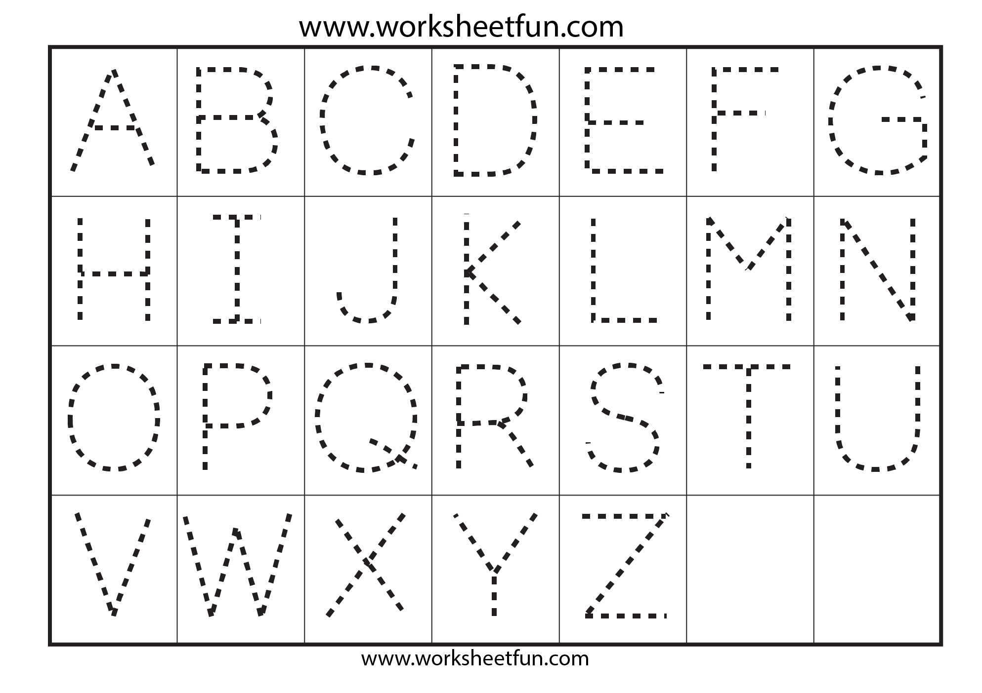 Letter Tracing – 7 Worksheets / FREE Printable Worksheets ...