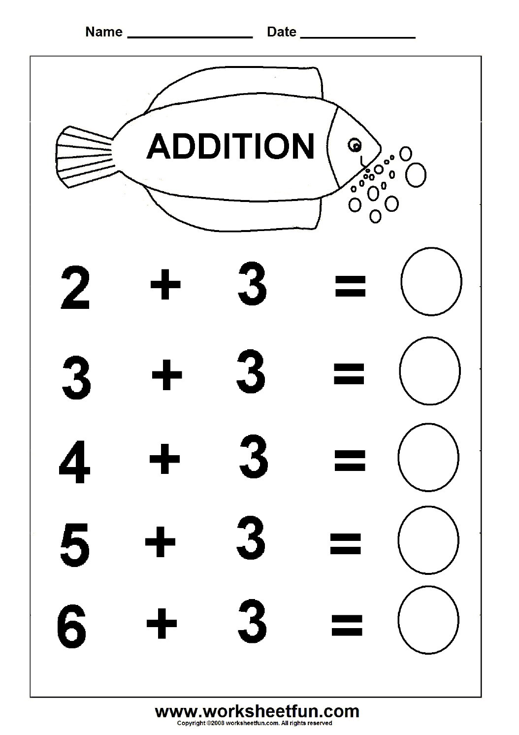 Free Printable Adding Worksheets : Beginner addition kindergarten worksheets